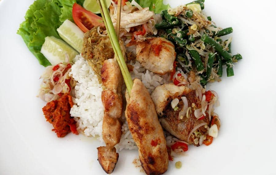 Indonesian Food Nasi Campur