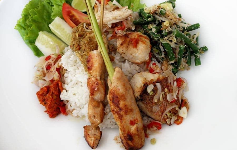 Indonesian Food Nasi Campur